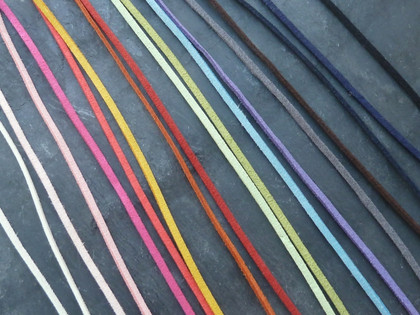 Faux suede flat cord 3mm