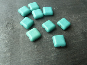 Turquoise Beads 10x10mm Square