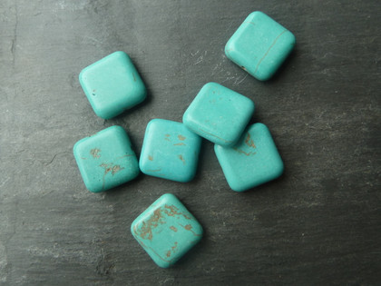 Turquoise Beads 18x18mm Square