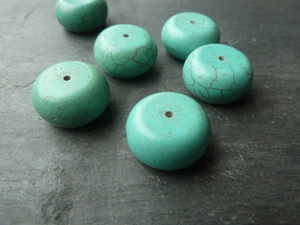 Turquoise Beads 9x18mm Drum