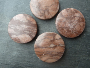 Red Zebra Jasper Large Circles 30mm