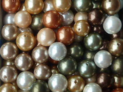 South Sea Shell Pearls Loose 8mm Autumn Mix