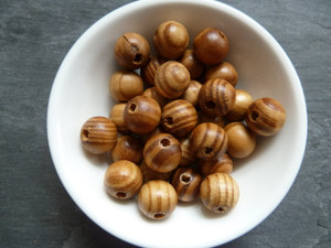 Stripy Wooden Beads 8mm pk 50