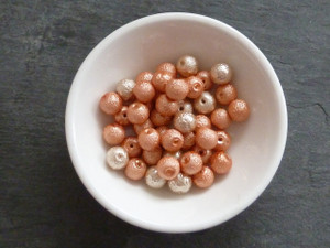 Crinkle Glass Pearl Beads 6mm