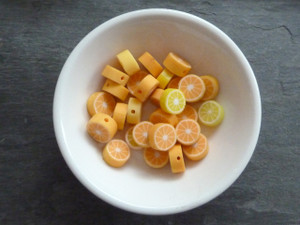 Orange/Lemon Slice Beads