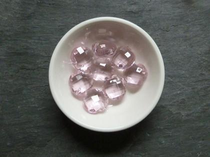 Pink Crystal Drop Pendants