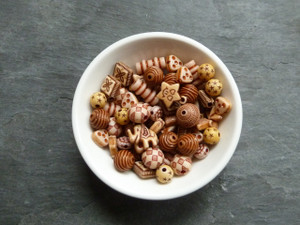 Tan Acrylic Bead Mix