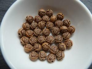 Vintage Rose Beads 7mm
