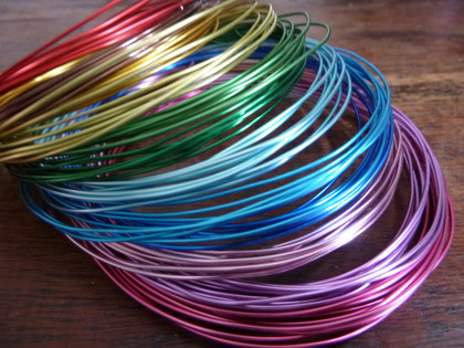 Colourful Aluminium Wire 1mm 2m *Blue and Copper Only*