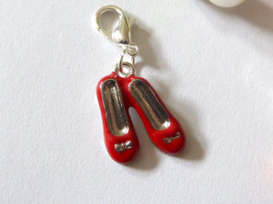 Little Red Shoes Clip-On Charm