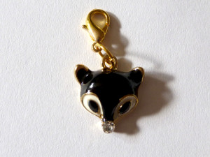 Black Fox Clip-On Charm