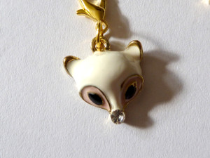 White Fox Clip-On Charm
