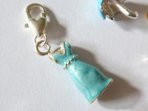 Blue Dress Clip-On Charm