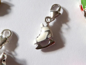 Skating Boot Clip-On Charm