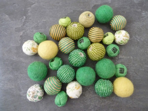 Felt Beads Set - Fresh Green Mix