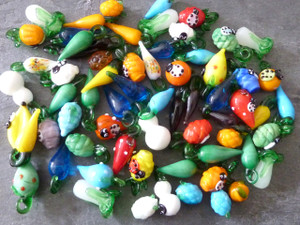 Glass Mixed Vegetable Pendants