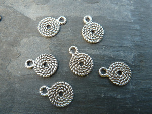 Rope Bails/Charms - Silver Tone