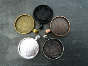 25mm Round Pendant Trays