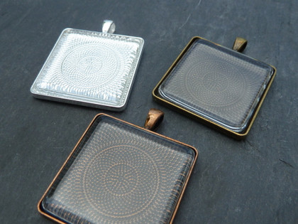 30mm Square Pendant Trays