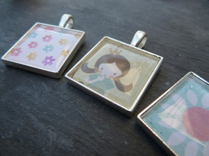 20.5mm Square Pendant Trays