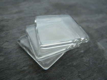 Crystal Clear Square Glass Tiles 30x30mm