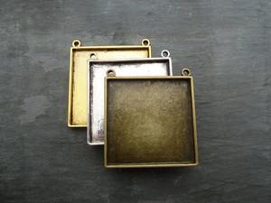 Large Square Pendant Blanks - 45x45mm