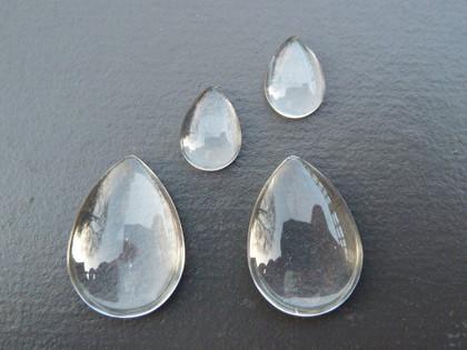 Teardrop Glass Cabochons 18x25mm