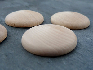 Domed Wooden Circles 38mm (1.5inch)