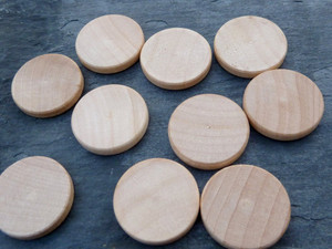 Wooden Circle Tiles 19mm (3/4 inch)