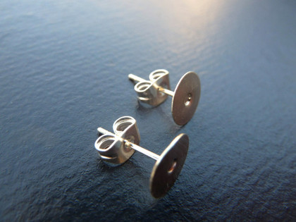 Earstud Blanks with 8mm Pad - 10 pairs