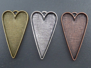 Large Pointy Hearts for Resins or Altered Art
