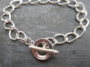 Silver Plated Bracelet - Idea for Charms!