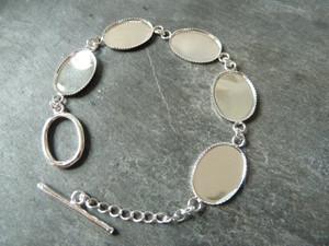 Oval Link Bracelet Blank 13x18mm