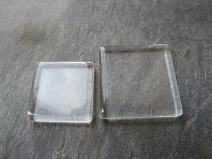 Crystal Clear Square Glass Tiles 20x20mm
