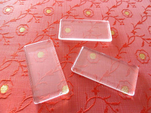 Crystal Clear Glass Rectangles Domino Tiles 24x48