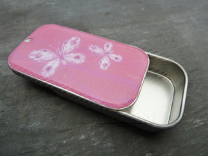 Small Oblong Metal Gift Tin with Optional Stickers