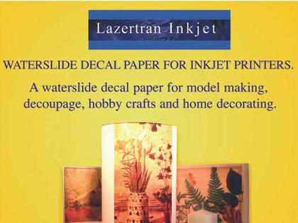 Lazertran Inkjet Waterslide Decal Paper