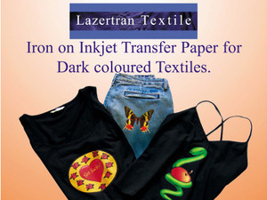 Lazertran Dark Cloth Transfer Paper for Fabric