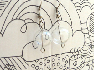 Clear Hollow Blown Glass Beads - Round 13mm