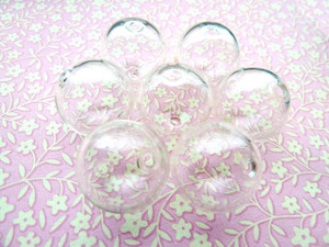 Clear Hollow Blown Glass Beads - Round 18mm