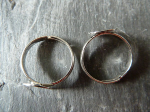 Ring Blanks with Pad - Kids' Size - Silver Tone