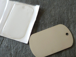 Steel Dog Tags & Epoxy Stickers - Small