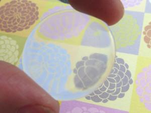 Glittery Round Epoxy Stickers 8mm