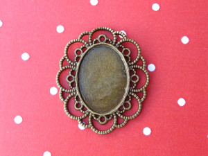 Ornate Oval Open-Framed Pendant Trays 13x18mm