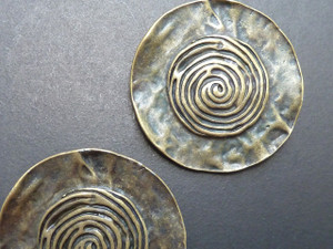 Hammered Swirl Pendant