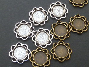 Tiny Scalloped Trays 8mm