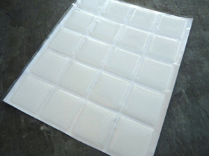 Clear Square Epoxy Stickers 20.5mm
