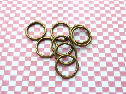 Jump Rings Antique Bronze 12x1mm
