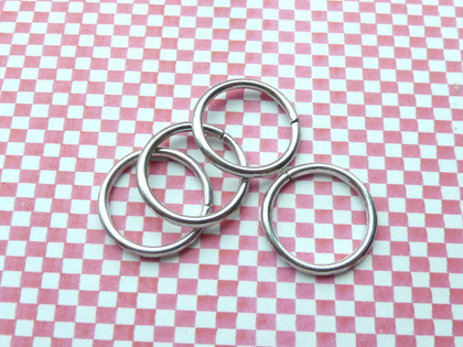 Jump Rings Antique Silver 20x1.5mm