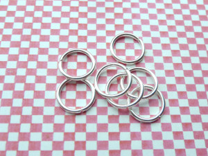 Jump Rings Silver 12x1.2mm